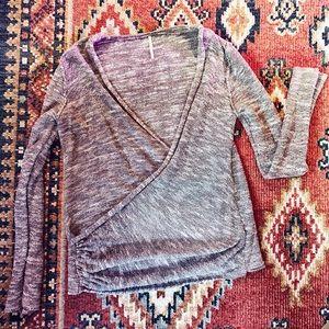 Free People Tops | Gotham Sweater in Cream & Grey